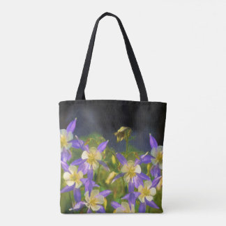 Colorado Blue Columbine Painting - Original Art Tote Bag