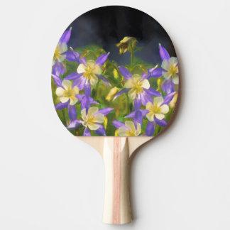 Colorado Blue Columbine Ping Pong Paddle