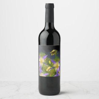 Colorado Blue Columbine Wine Label