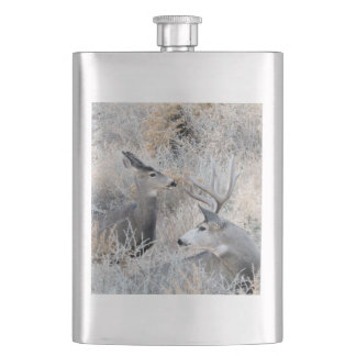 Colorado Buck and Doe Hip Flask