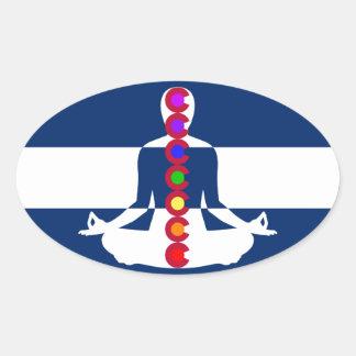 Colorado Chakra Meditation Shop Oval Sticker