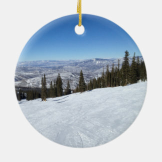 Colorado Christmas Ceramic Ornament
