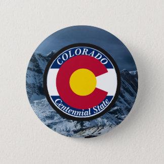 Colorado Circular Flag 2 Inch Round Button