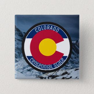Colorado Circular Flag 2 Inch Square Button