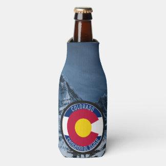 Colorado Circular Flag Bottle Cooler