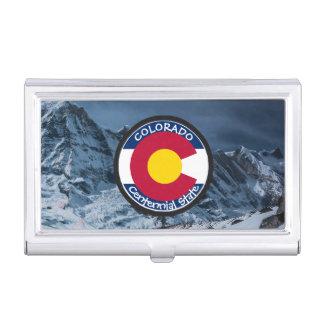 Colorado Circular Flag Business Card Holder