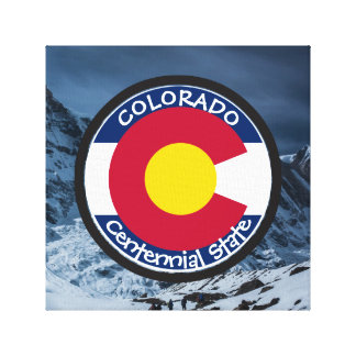 Colorado Circular Flag Canvas Print