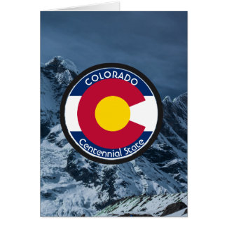Colorado Circular Flag Card