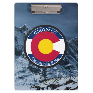 Colorado Circular Flag Clipboard