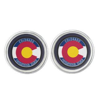 Colorado Circular Flag Cufflinks