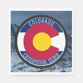Colorado Circular Flag Disposable Napkins