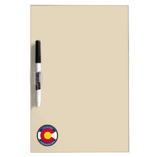 Colorado Circular Flag Dry Erase Board