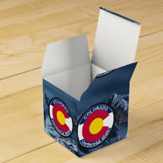 Colorado Circular Flag Favor Box