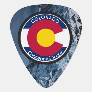 Colorado Circular Flag Guitar Pick