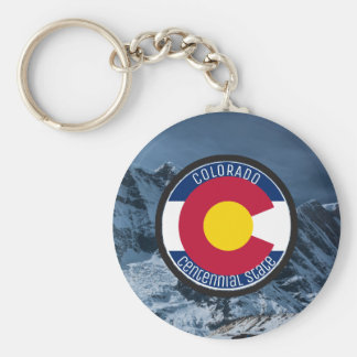 Colorado Circular Flag Keychain