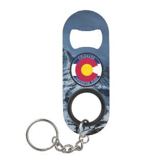 Colorado Circular Flag Keychain Bottle Opener
