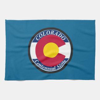 Colorado Circular Flag Kitchen Towel