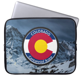 Colorado Circular Flag Laptop Sleeve