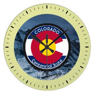 Colorado Circular Flag Large Clock