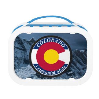 Colorado Circular Flag Lunch Box