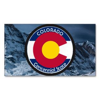 Colorado Circular Flag Magnetic Business Card