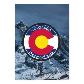 Colorado Circular Flag Magnetic Invitations