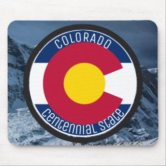 Colorado Circular Flag Mouse Pad