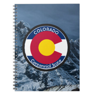 Colorado Circular Flag Notebooks