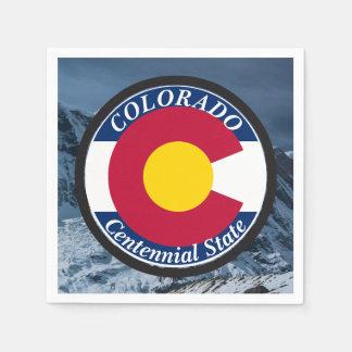 Colorado Circular Flag Paper Napkin