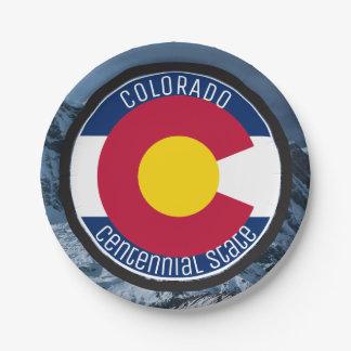 Colorado Circular Flag Paper Plate