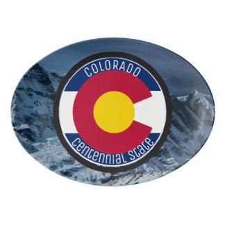 Colorado Circular Flag Porcelain Serving Platter
