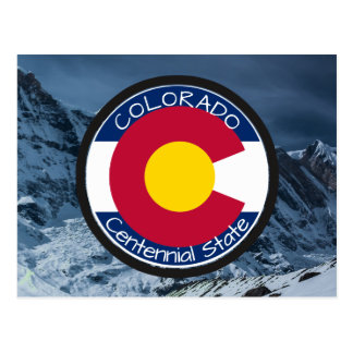 Colorado Circular Flag Postcard