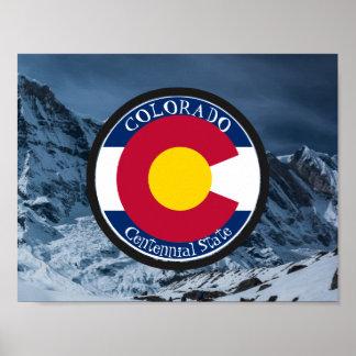 Colorado Circular Flag Poster