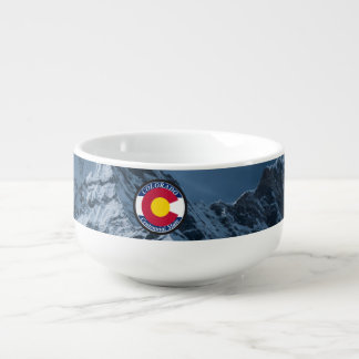 Colorado Circular Flag Soup Mug