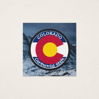 Colorado Circular Flag Square Business Card