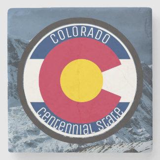 Colorado Circular Flag Stone Coaster
