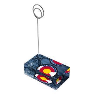 Colorado Circular Flag Table Card Holder