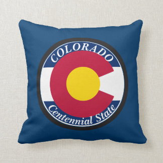 Colorado Circular Flag Throw Pillow