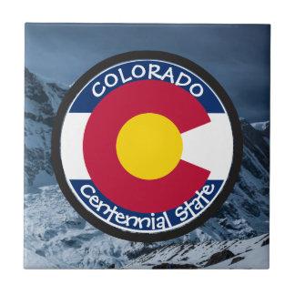 Colorado Circular Flag Tile