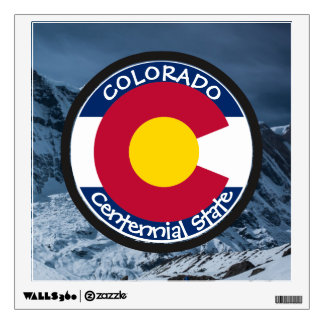 Colorado Circular Flag Wall Decal