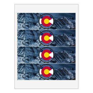Colorado Circular Flag Water Bottle Label