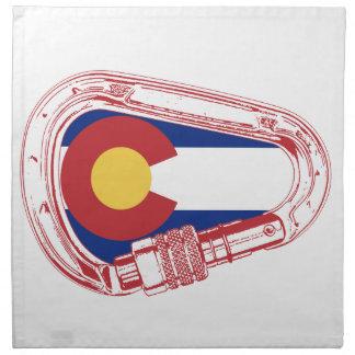 Colorado Climbing Carabiner Napkin