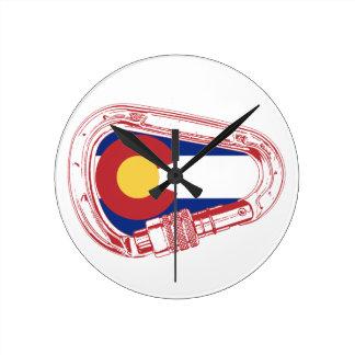 Colorado Climbing Carabiner Round Clock