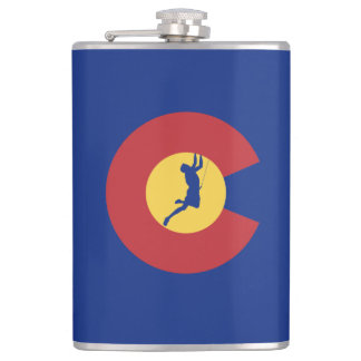Colorado Climbing Hip Flask