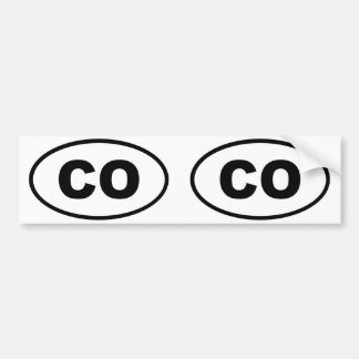 Colorado CO oval Bumper Sticker