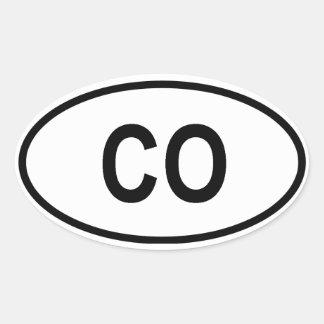 "Colorado ""CO"" Oval Sticker"
