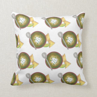 Colorado CO Style Green Pork Chili Verde Foodie Throw Pillow