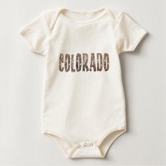 Colorado Coffee and Stars Baby Bodysuit