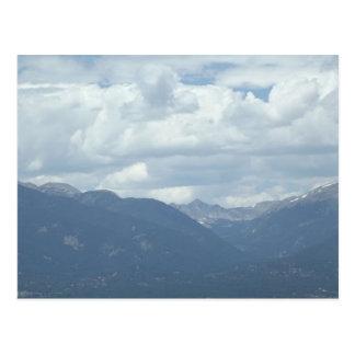 Colorado Collegiate Peaks under cloudy skies Postcard