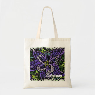 Colorado columbine resuable bag